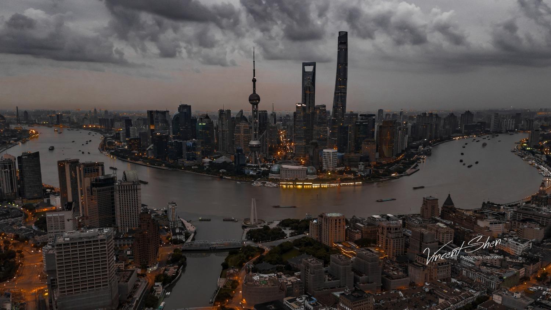 御 Mavic 2哈苏镜头评测及上海夜景样张